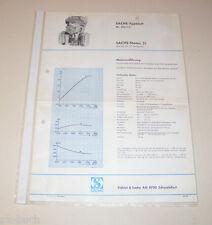 Typenblatt / Technische Daten Sachs-Stamo 51 - Stand 1968!