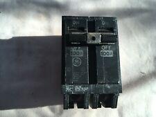 GE THQL21100 100 AMP 2 POLE 240 VOLT PLUG IN CIRCUIT BREAKER