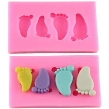 Cute Baby Foot Silicone Fondant Mold Chocolate Mould Sugar Craft Baking Tool