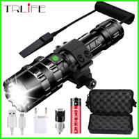 lampe de poche LED torche tactique puissant usb Rechargeable 8000 Lums