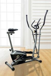 V-fit Exercise Bike Magnetic 2-in-1 Trainer Cycle
