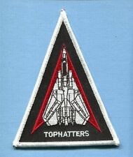 VF-14 TOPHATTERS US NAVY GRUMMAN F-14 TOMCAT Triangle Shoulder Squadron Patch