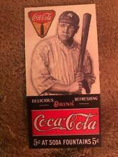 Babe Ruth Coca-Cola Advertising Baseball Card