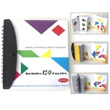Kids Puzzle Magnetic Tangram Book Educational Toy Childer Development Game