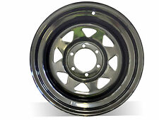 "15X8"" N25 BLACK SUNRAYSIA STEEL WHEEL,Suit Colorado,Triton,Hilux,Ranger,PATROL"