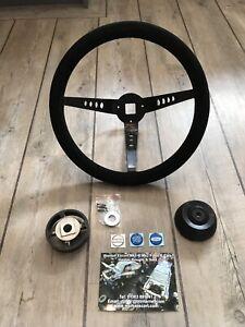 Escort MK1  Suede Steering  Wheel Deep Dish  Inc Boss, Rally Car RS AVO MEXICO