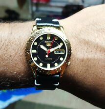 Vintage seiko 5 automatic mens watch  excellent condition 37mm  used