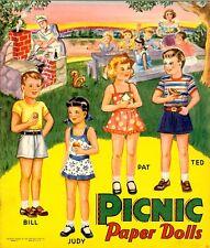 Vintage Uncut 1952 Picnic Paper Doll Hd Laser Reproduction~Lo Pr~Hi Qual Free Sh