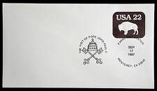 U608 - PAPAL VISIT STATION, POPE JOHN PAUL II  UNADDRESSED COVER 1987  (ESP#761)