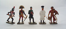 Lot 5 Figurines plomb Starlux Hussard Murat Premier Empire Napoléon Toy Soldier