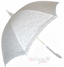VICTORIAN WHITE LACE WEDDING BRIDE PARASOL OR UMBRELLA