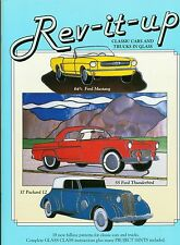 Rev It Up Stained Glass Pattern Book, Classic Cars and Trucks, Mustang, Corvette