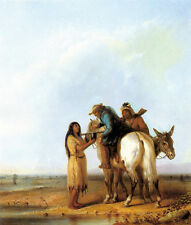 Alfred Jacob Miller - The Thirsty Trapper   - 24'  CANVAS