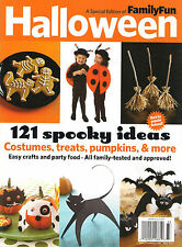 NEW! Family Fun HALLOWEEN Fall 2013 121 SPOOKY IDEAS Costumes Treats Pumpkins