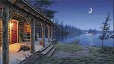 "Darrell Bush "" Simple Pleasures CANVAS Artist Proof #12/19 Camping"