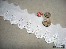 """14Yds Broderie Anglaise Eyelet lace trim 2.2""""(5.5cm) white YH1142 laceking2013"""