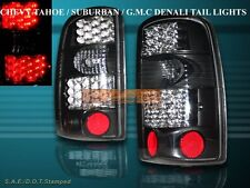 2000-2006 YUKON SUBURBAN TAHOE JDM BLACK LED L.E.D TAIL LIGHTS PAIR