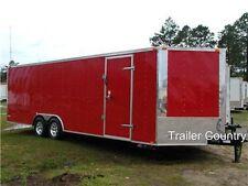 NEW 8.5 x 24 8.5x24 Enclosed Carhauler Cargo Trailer 10K Axles