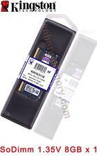 Kingston 8GB  DDR3 1600 8G PC3L-12800 CL11 204PIN 1.35V SO-DIMM RAM KVR16LS11/8