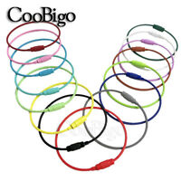 5X Colorful Stainless Steel Cable Wire Screw Lock Keychain Key Holders Accessory