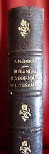 Mérimée - Mélanges historiques et littéraires (Calmann Lévy 1883)