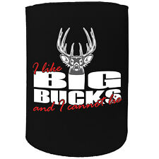 Stubby Holder - I Like Big Bucks - Funny Novelty Christmas Gift Joke Beer Can