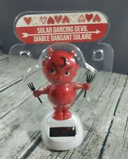 Solar Dancing Cupie Red Devil with Pitch Forks New in package