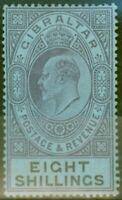 Gibraltar 1903 8s Dull Violet & Noir-Bleu SG54 Fin MTD Excellent État (5)