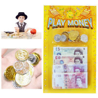 Children's Play Money Fake Coins Notes Playful Learning Currency Pound Sterling