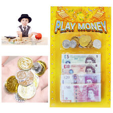 Children's Play Money £ Kids Fake Coins & Notes Party Bag Fillers Learn Currency
