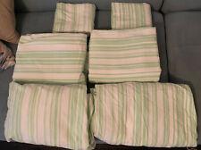 2 PB TEEN Pottery Barn Green White Stripe Twin XL Sheet Sets Dorm College