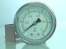 """Panel Montiert Luftdruckprüfer 40 & 50mm 1.1/2 """" Und 2 """" C/W Halterung"""