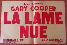 ANCIENNE AFFICHE CINEMA LA LAME NUE GARY COOPER DEBORAH KERR