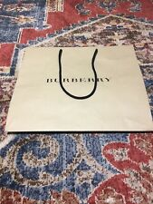 BURBERRY Empty Paper Gift Shopping Bag