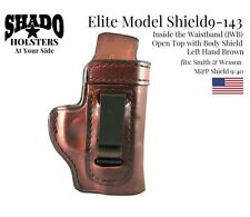 SHADO Leather Holster USA Elite Model SHIELD9-143 Left Hand Brown IWB S&W Shield