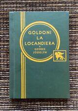 RARE 1st Edition VINTAGE 1901 Goldoni La Locandiera: Mistress of the Inn, Geddes