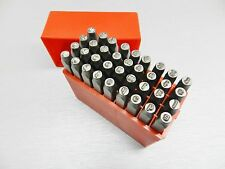 3mm Metal Marking Lowercase Stamps Hand Punches Alphabet & Numbers 36pc Set