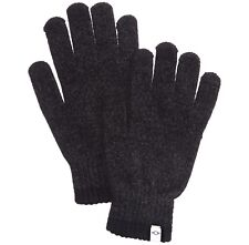 $75 Alfani Men Knit Gloves Black Gray Touch Screen Athletic Warm Winter One Size