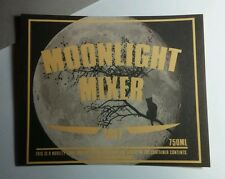 MOONLIGHT MIXER CAT MOON LARGE LG 5.75x7 HALLOWEEN WINE POP BOTTLE LABEL STICKER
