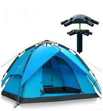 Automatic Hydraulic Outdoor Double Layers Camping Tent for 2-3 Persons (Blue)