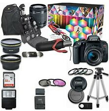 Canon EOS Rebel T7i DSLR Camera Deluxe Video Kit with Canon EF-S 18-55mm f/3.5-5
