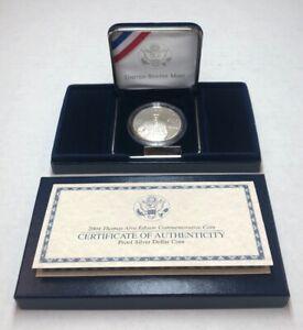 1994 P Thomas Alva Edison Commemorative Proof Silver $ Dollar OMP/COA