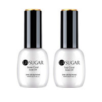 UR SUGAR 2 Bottles 15ml Nagel Top Coat Base Coat Gellack Nail Art Gel UV Kit