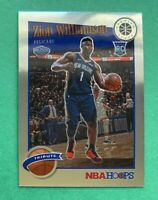 2019-20 NBA Hoops Premium Stock Zion Williamson #296 Tribute Pelicans Rookie