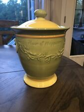 Pfaltzgraff Secrets Of Pistoulet Flour Of Happiness Canister Cookie Jar