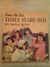 """Here We Are Three Years Old , The Dionne """"quins"""" Picture Book # 975 From 1937"""