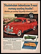1941 Studebaker Deluxe Coupe Express Red Pickup Truck Ad shown w/original price