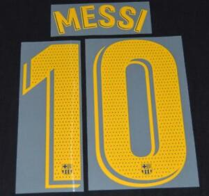 Barcelona Messi 10 2018/19/20 Football Shirt Name/Number Set Player issue Home