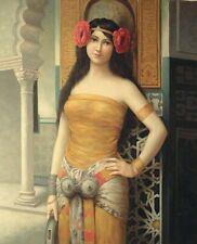 "24""x 20"" Oil Painting on Canvas, Harem Girl"