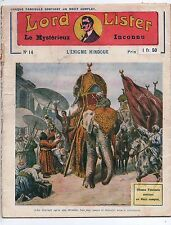 LORD LISTER n°14. L'Enigme Hindoue. Dykmann imprimeur.